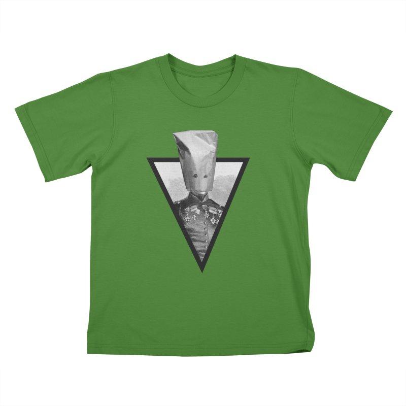 paper bag head Kids T-Shirt by edulobo's Artist Shop