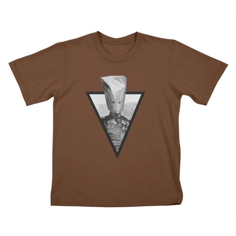 paper bag head Kids T-shirt by edulobo's Artist Shop