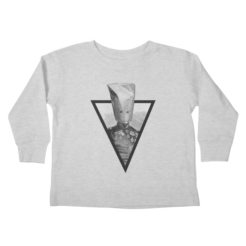 paper bag head Kids Toddler Longsleeve T-Shirt by edulobo's Artist Shop