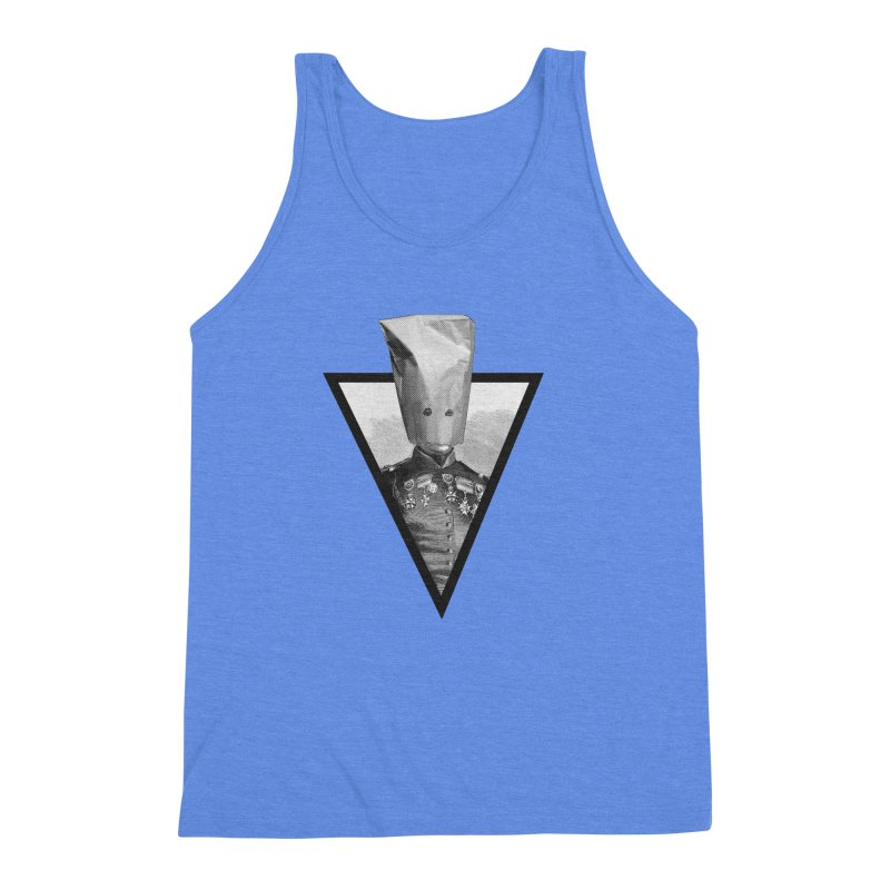 paper bag head Men's Triblend Tank by edulobo's Artist Shop