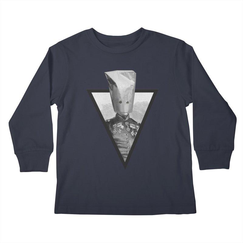 paper bag head Kids Longsleeve T-Shirt by edulobo's Artist Shop