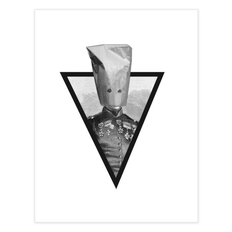 paper bag head Home Fine Art Print by edulobo's Artist Shop