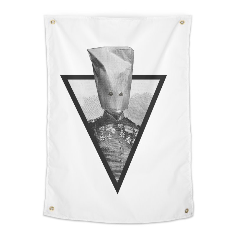 paper bag head Home Tapestry by edulobo's Artist Shop