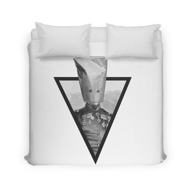 paper bag head Home Duvet by edulobo's Artist Shop