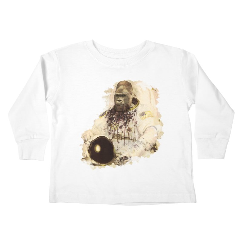 Space Kids Toddler Longsleeve T-Shirt by edulobo's Artist Shop