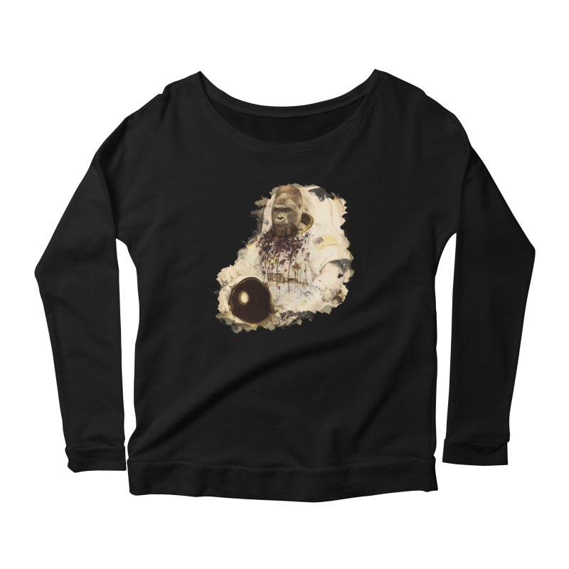 Space Women's Scoop Neck Longsleeve T-Shirt by edulobo's Artist Shop