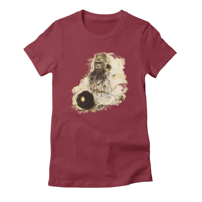 Space Women's Fitted T-Shirt by edulobo's Artist Shop