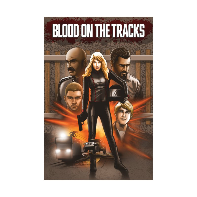 Blood on the Tracks Men's T-Shirt by Brain Cloud Comics' Artist Shop for Cool T's