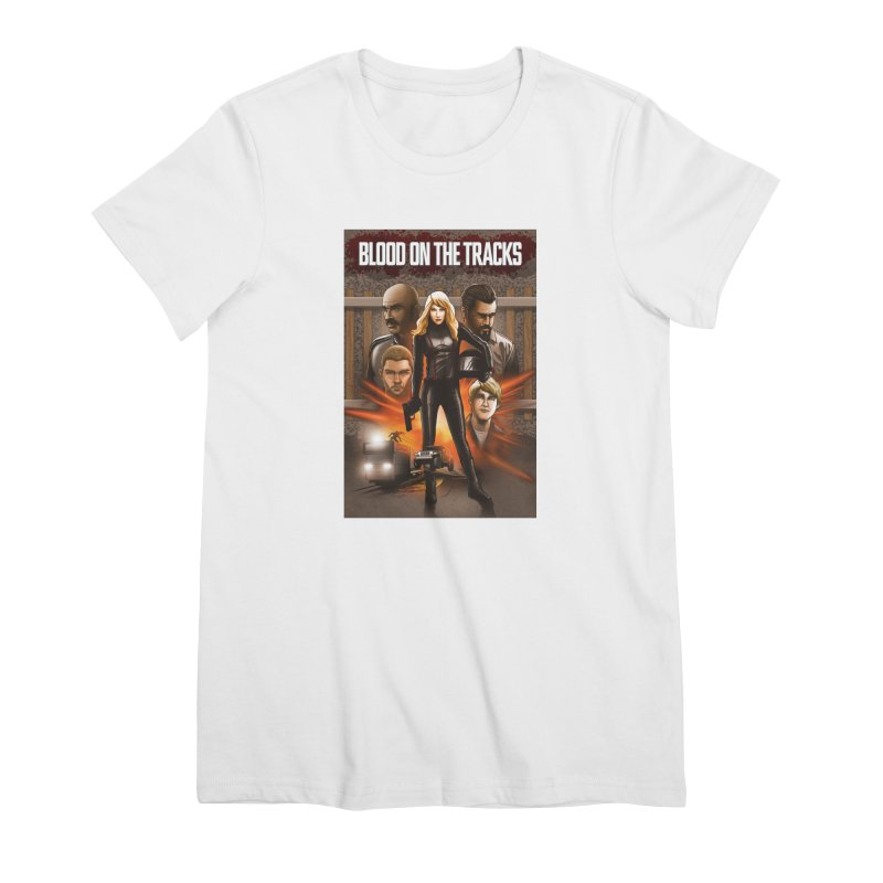 Blood on the Tracks Women's Premium T-Shirt by Brain Cloud Comics' Artist Shop for Cool T's