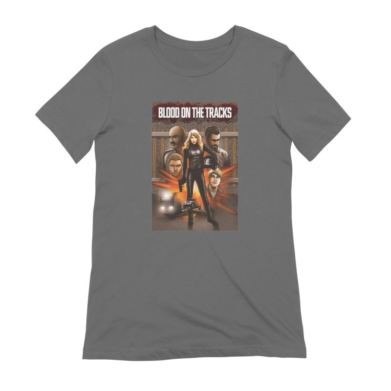 Blood on the Tracks Women's Extra Soft T-Shirt by Brain Cloud Comics' Artist Shop for Cool T's