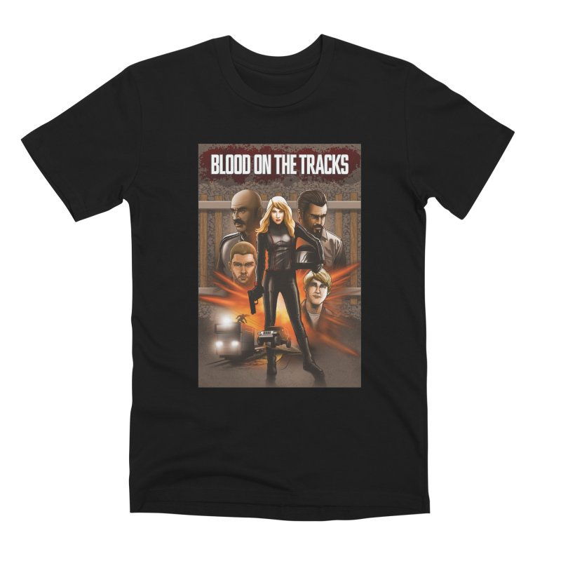Blood on the Tracks Men's Premium T-Shirt by Brain Cloud Comics' Artist Shop for Cool T's