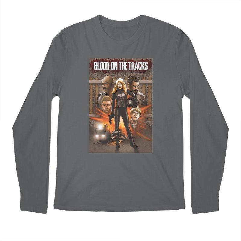 Blood on the Tracks Men's Longsleeve T-Shirt by Brain Cloud Comics' Artist Shop for Cool T's