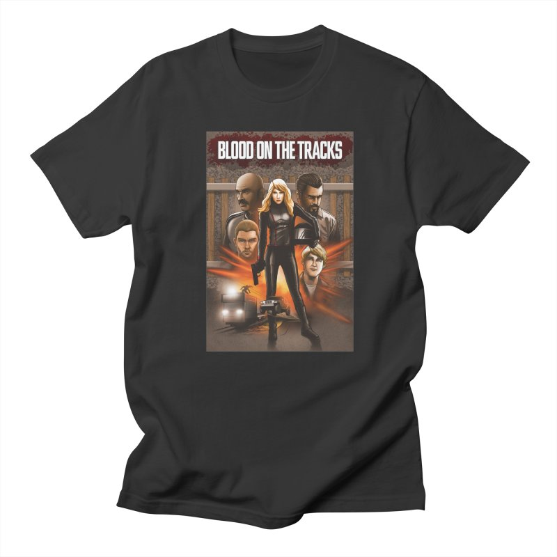 Blood on the Tracks Men's Regular T-Shirt by Brain Cloud Comics' Artist Shop for Cool T's