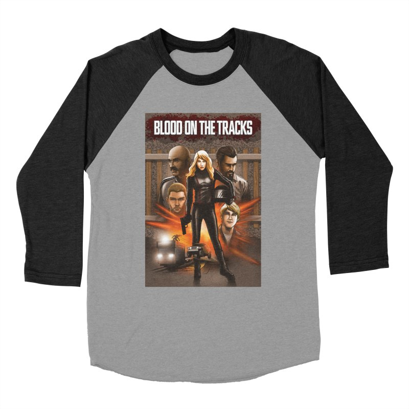 Blood on the Tracks Men's Baseball Triblend Longsleeve T-Shirt by Brain Cloud Comics' Artist Shop for Cool T's