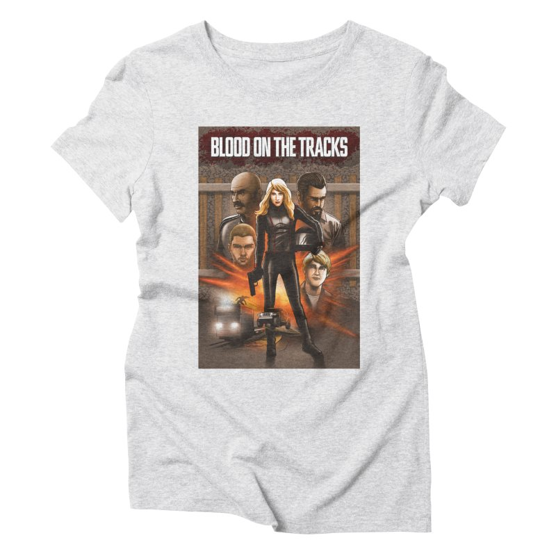 Blood on the Tracks Women's T-Shirt by Brain Cloud Comics' Artist Shop for Cool T's