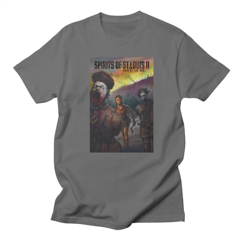 Spirits of St. Louis II - Zombie Lewis and Clark with Sacagawea Men's T-Shirt by Brain Cloud Comics' Artist Shop for Cool T's