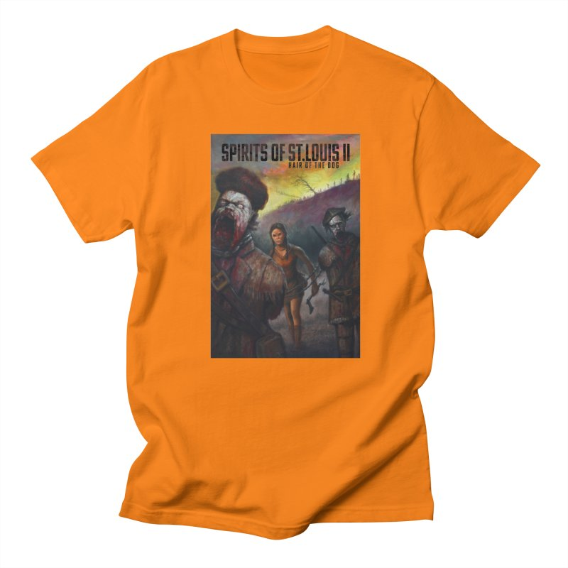 Spirits of St. Louis II - Zombie Lewis and Clark with Sacagawea Men's Regular T-Shirt by Brain Cloud Comics' Artist Shop for Cool T's