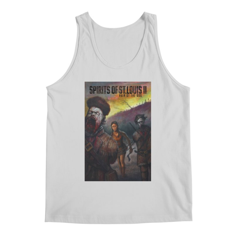 Spirits of St. Louis II - Zombie Lewis and Clark with Sacagawea Men's Tank by Brain Cloud Comics' Artist Shop for Cool T's