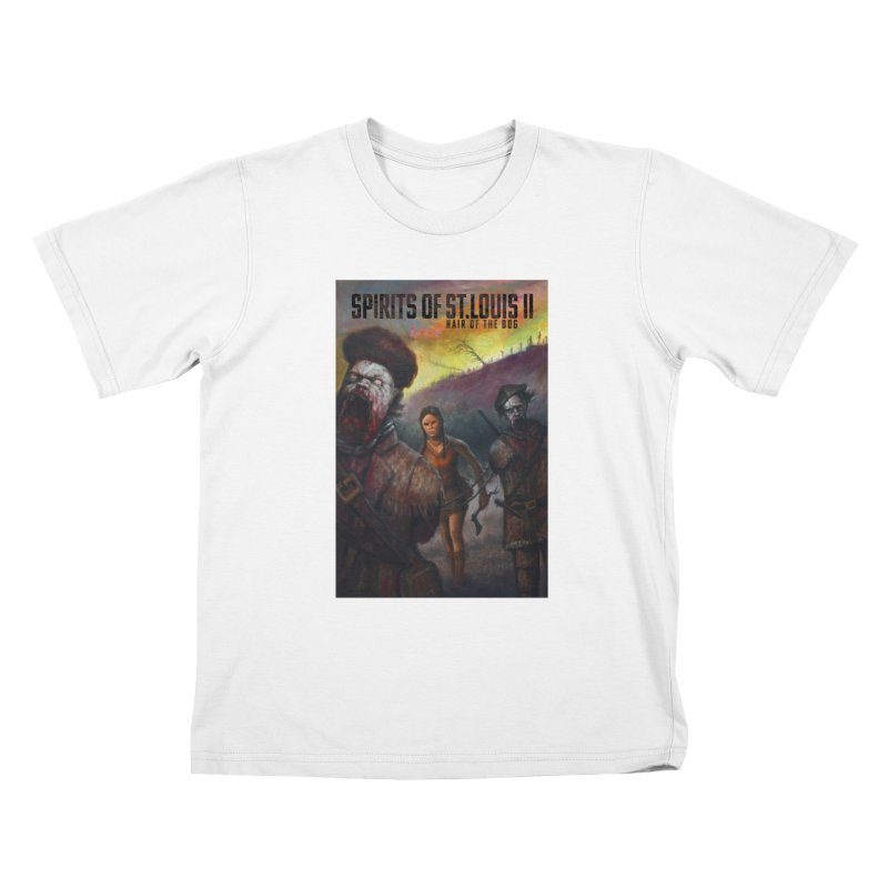 Spirits of St. Louis II - Zombie Lewis and Clark with Sacagawea Kids T-Shirt by Brain Cloud Comics' Artist Shop for Cool T's