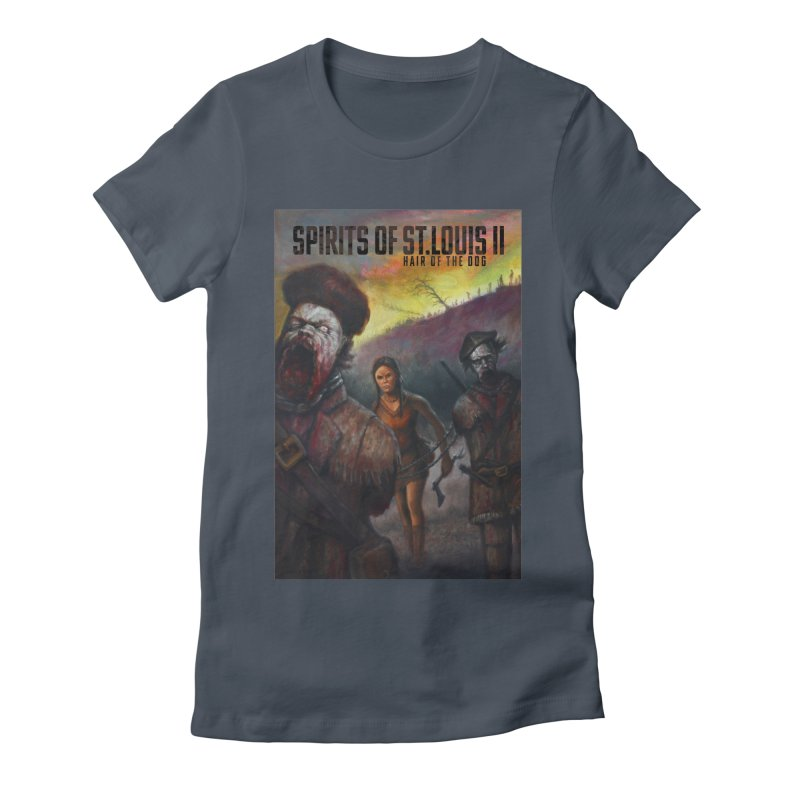Spirits of St. Louis II - Zombie Lewis and Clark with Sacagawea Women's T-Shirt by Brain Cloud Comics' Artist Shop for Cool T's