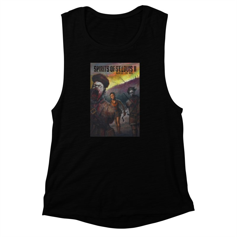 Spirits of St. Louis II - Zombie Lewis and Clark with Sacagawea Women's Muscle Tank by Brain Cloud Comics' Artist Shop for Cool T's