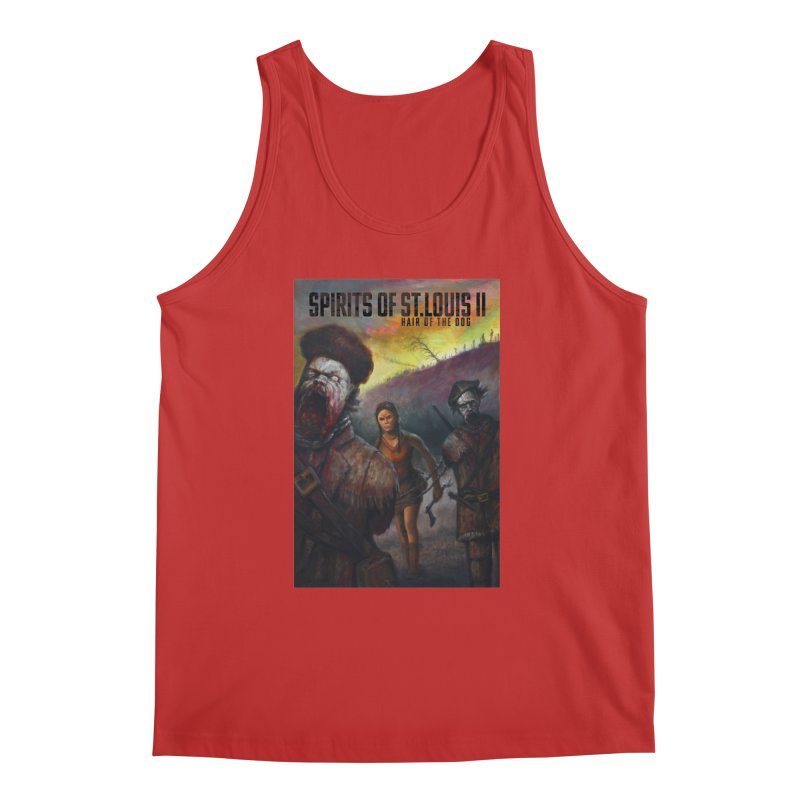 Spirits of St. Louis II - Zombie Lewis and Clark with Sacagawea Men's Regular Tank by Brain Cloud Comics' Artist Shop for Cool T's