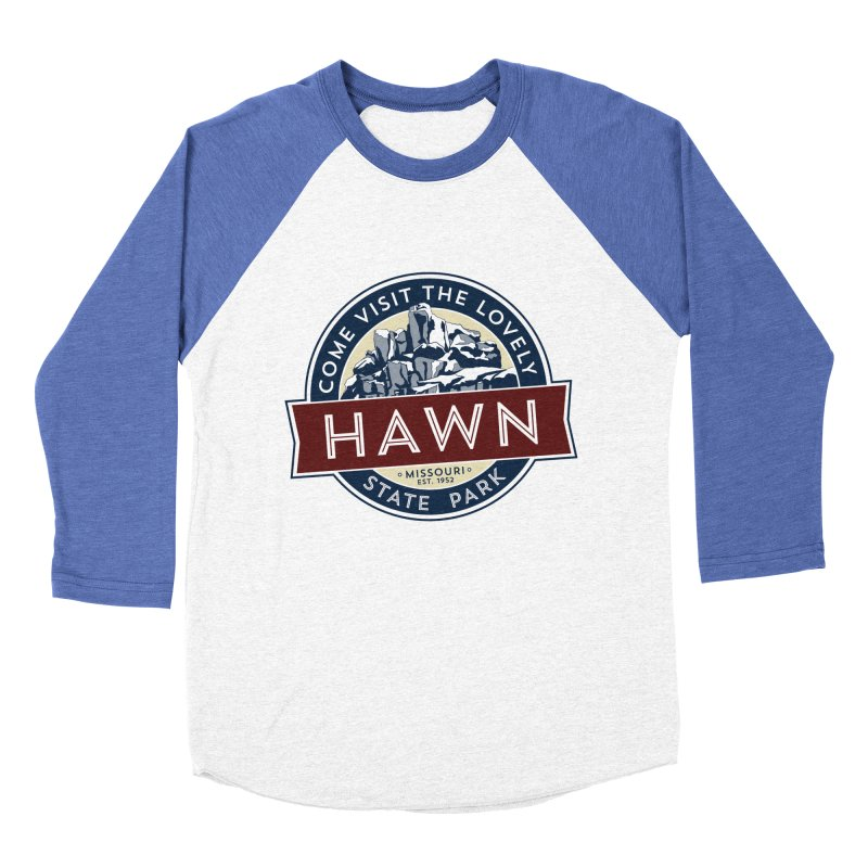 Hawn State Park Women's Baseball Triblend Longsleeve T-Shirt by Brain Cloud Comics' Artist Shop for Cool T's