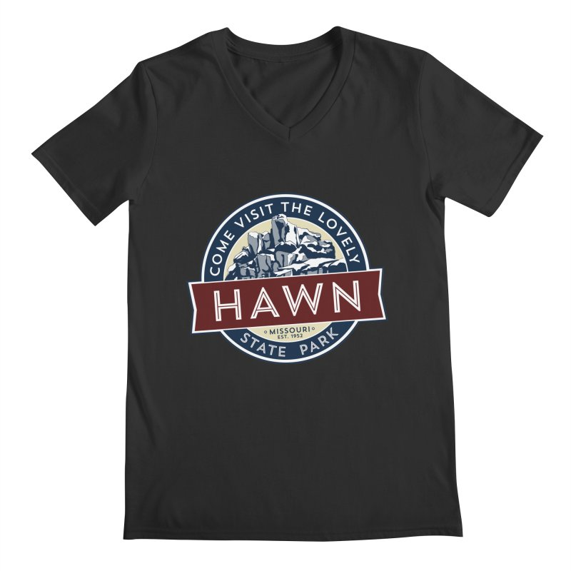 Hawn State Park Men's Regular V-Neck by Brain Cloud Comics' Artist Shop for Cool T's