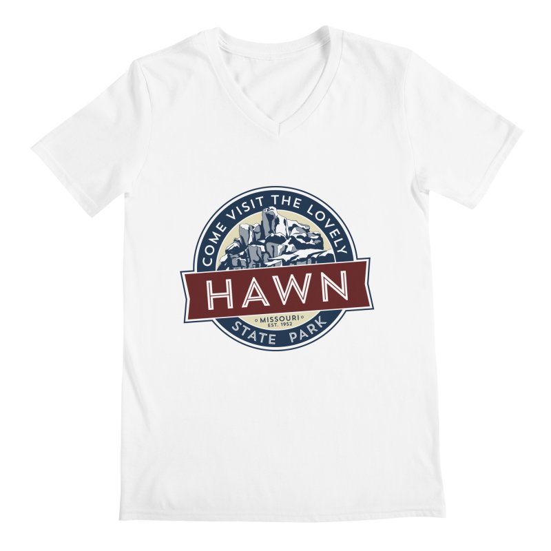 Hawn State Park Men's V-Neck by Brain Cloud Comics' Artist Shop for Cool T's