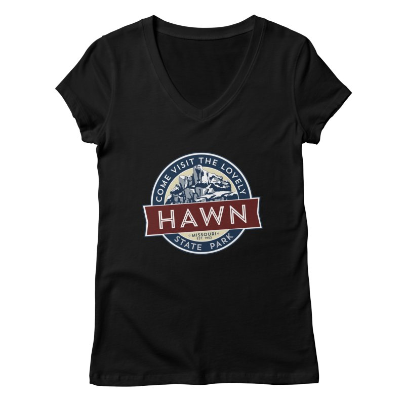 Hawn State Park Women's V-Neck by Brain Cloud Comics' Artist Shop for Cool T's