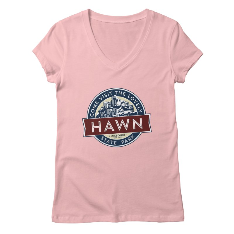 Hawn State Park Women's Regular V-Neck by Brain Cloud Comics' Artist Shop for Cool T's