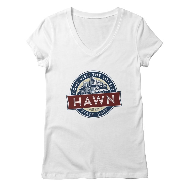 Hawn State Park Women's Regular V-Neck by Brain Cloud Comics' Artist Shop for Cool T's