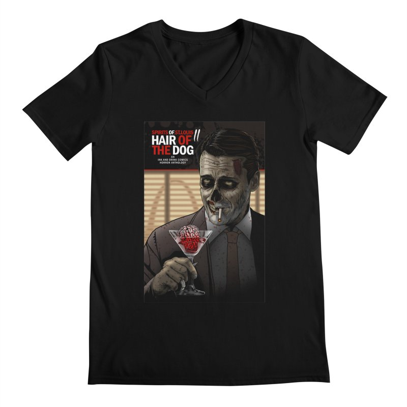 Spirits of St. Louis II - Zombie Martini  Men's Regular V-Neck by Brain Cloud Comics' Artist Shop for Cool T's