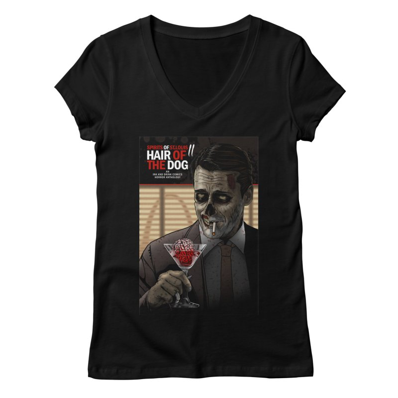 Spirits of St. Louis II - Zombie Martini  Women's Regular V-Neck by Brain Cloud Comics' Artist Shop for Cool T's