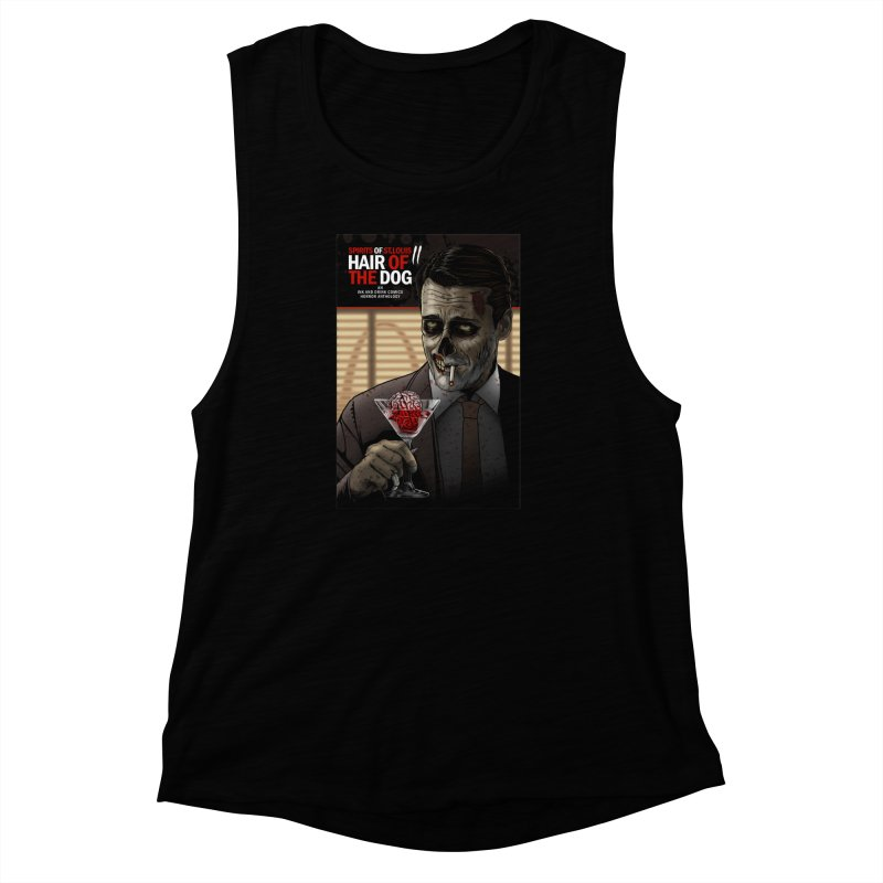 Spirits of St. Louis II - Zombie Martini  Women's Muscle Tank by Brain Cloud Comics' Artist Shop for Cool T's