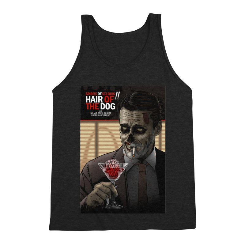 Spirits of St. Louis II - Zombie Martini  Men's Triblend Tank by Brain Cloud Comics' Artist Shop for Cool T's
