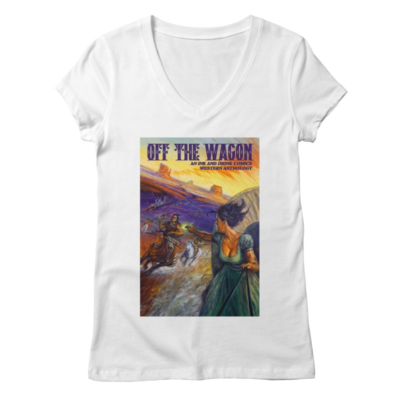 Off the Wagon Women's Regular V-Neck by Brain Cloud Comics' Artist Shop for Cool T's