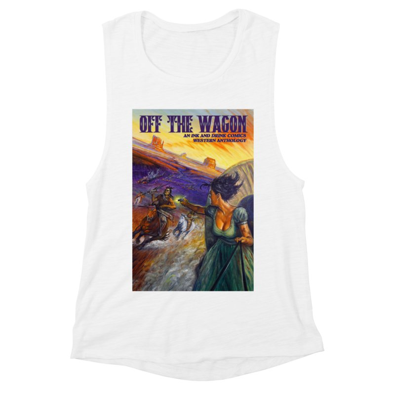 Off the Wagon Women's Muscle Tank by Brain Cloud Comics' Artist Shop for Cool T's