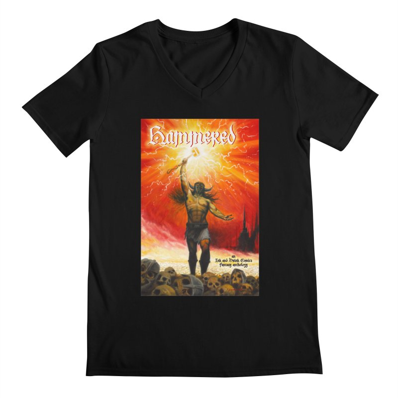 Hammered Men's Regular V-Neck by Brain Cloud Comics' Artist Shop for Cool T's