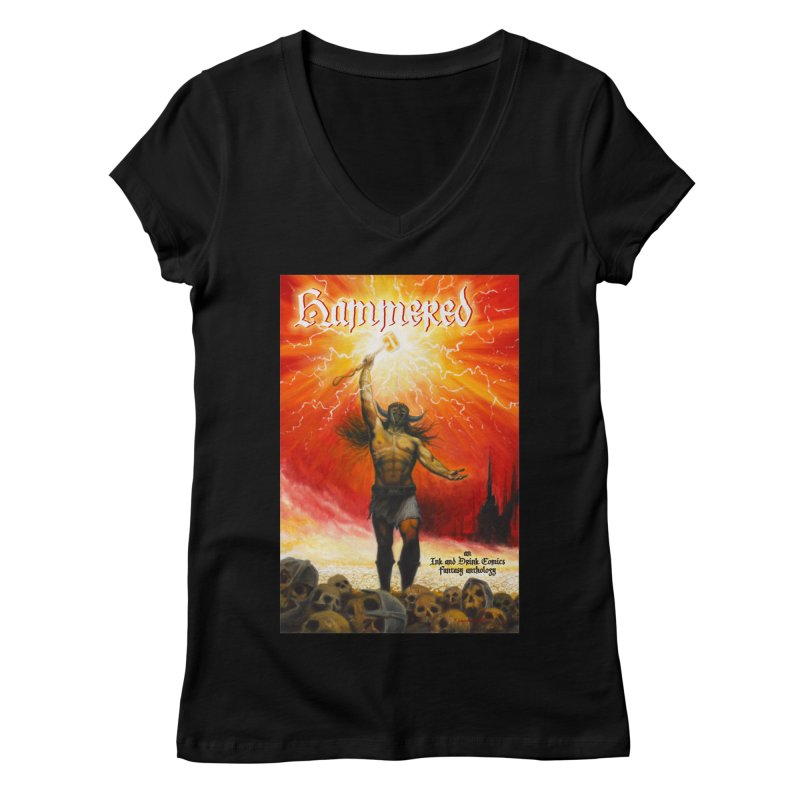 Hammered Women's Regular V-Neck by Brain Cloud Comics' Artist Shop for Cool T's