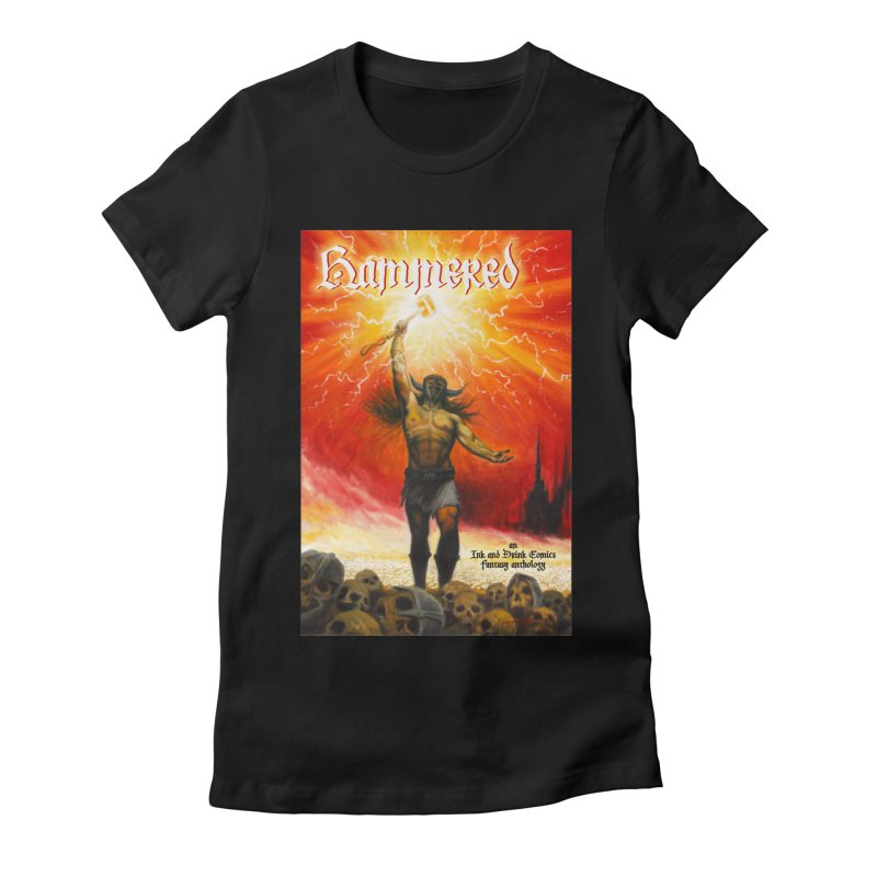 Hammered Women's Fitted T-Shirt by Brain Cloud Comics' Artist Shop for Cool T's