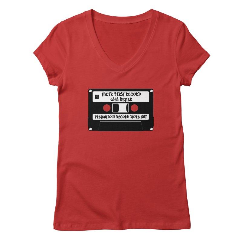 PRSG Mixtape Women's Regular V-Neck by Brain Cloud Comics' Artist Shop for Cool T's