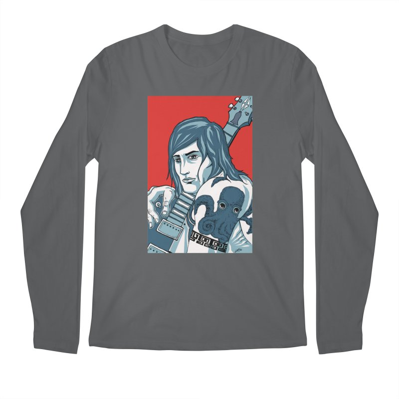 Pretentious Record Store Guy Heartthrob T-shirt Men's Regular Longsleeve T-Shirt by Brain Cloud Comics' Artist Shop for Cool T's