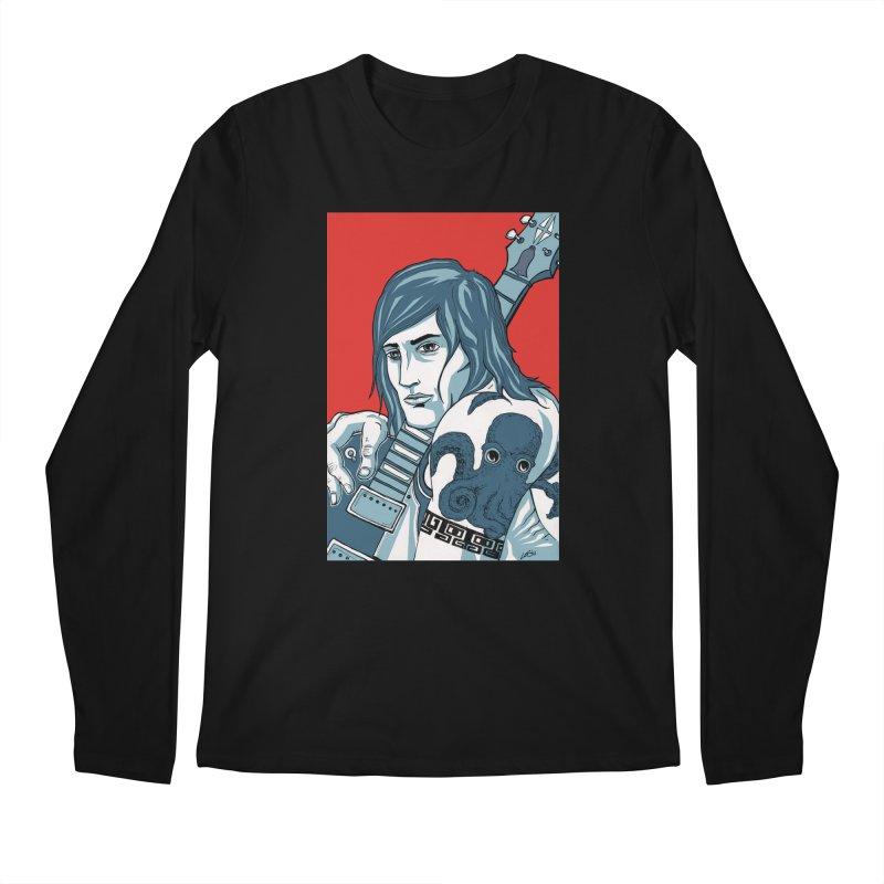 Pretentious Record Store Guy Heartthrob T-shirt Men's Regular Longsleeve T-Shirt by Brain Cloud Comics' Artist Shop for Cool T's