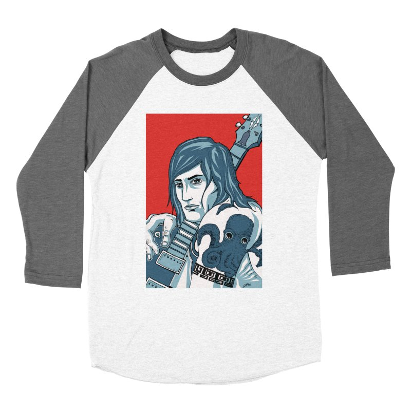 Pretentious Record Store Guy Heartthrob T-shirt Men's Baseball Triblend Longsleeve T-Shirt by Brain Cloud Comics' Artist Shop for Cool T's
