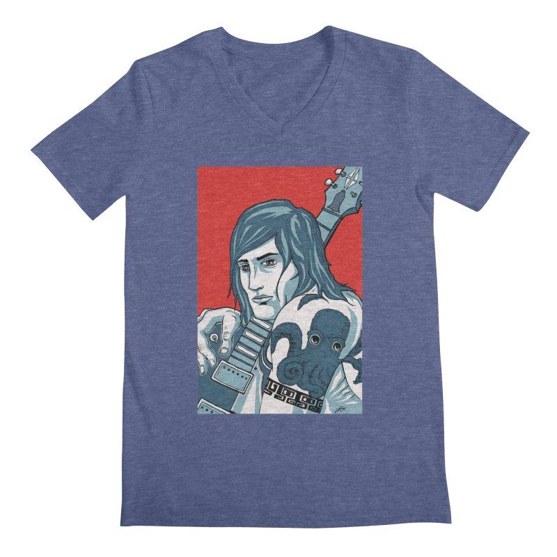 Pretentious Record Store Guy Heartthrob T-shirt Men's Regular V-Neck by Brain Cloud Comics' Artist Shop for Cool T's