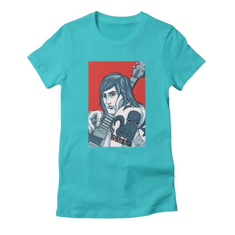 Pretentious Record Store Guy Heartthrob T-shirt Women's T-Shirt by Brain Cloud Comics' Artist Shop for Cool T's