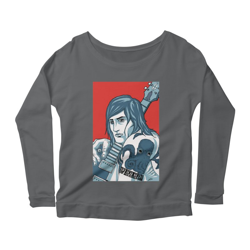 Pretentious Record Store Guy Heartthrob T-shirt Women's Longsleeve T-Shirt by Brain Cloud Comics' Artist Shop for Cool T's