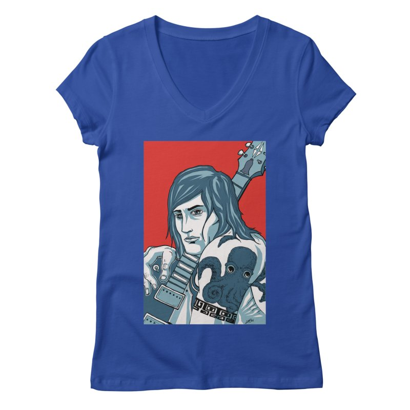 Pretentious Record Store Guy Heartthrob T-shirt Women's Regular V-Neck by Brain Cloud Comics' Artist Shop for Cool T's