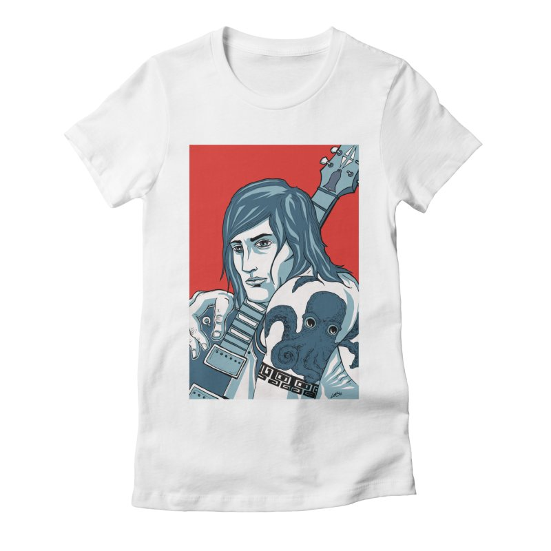 Pretentious Record Store Guy Heartthrob T-shirt Women's Fitted T-Shirt by Brain Cloud Comics' Artist Shop for Cool T's